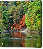 Fall Painting Acrylic Print by Frozen in Time Fine Art Photography