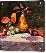 Fall Pear Acrylic Print by Ellen Howell
