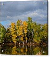 Fall Pond Reflection Acrylic Print