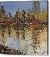Fall Reflected Acrylic Print