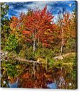 Fall Reflections In Maine Img 6312 Acrylic Print