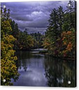 Fall River Scene Acrylic Print