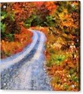 Fall Road To Paradise Acrylic Print