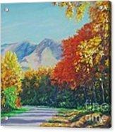 Fall Scene - Mountain Drive Acrylic Print