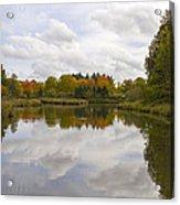 Fall Season By The Pond Acrylic Print