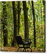 Fall Seating  Acrylic Print