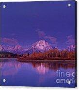 Fall Sunrise Grand Tetons National Park Wyoming Acrylic Print