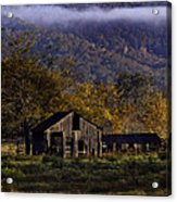 Fall Sunrise Old Barn At 21/43 Intersection Acrylic Print