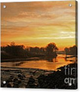 Fall Sunrise On The Red River Acrylic Print