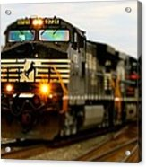 Fall Train Acrylic Print