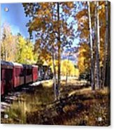 Fall Train Ride New Mexico Acrylic Print