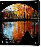 Fall Under The Bridge Acrylic Print