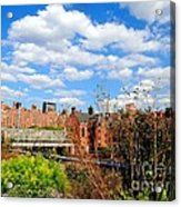 Fall Walk On The High Line Acrylic Print