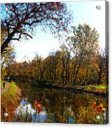Fall Water Reflections Acrylic Print