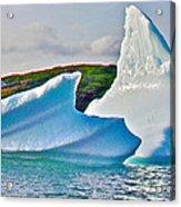 Fallen Clouds Iceberg Closeup In Saint Anthony Bay-newfoundland-canada  Acrylic Print