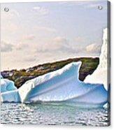 Fallen Clouds Icebergs In Saint Anthony Bay-newfoundland-canada  Acrylic Print