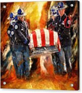 Fallen Officer Acrylic Print by Christopher Lane