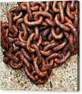 Falling Chain Acrylic Print
