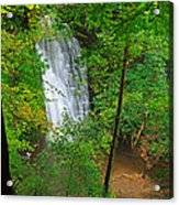Falling Foss Waterfall In North York Moors National Park Acrylic Print