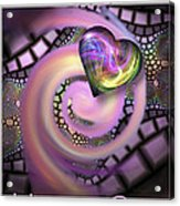 Falling In Love - Valentine Card / Poster Acrylic Print by Roger Snyder