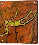 Falling Man Rock Art Acrylic Print