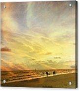 Falling Sky Siesta Key II Acrylic Print by Alison Maddex