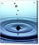 Falling Small Drops Of Water Acrylic Print