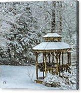 Falling Snow - Winter Landscape Acrylic Print