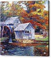 Falling Water Mill House Acrylic Print