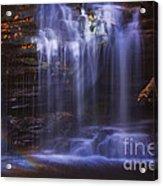 Falls And Log Acrylic Print