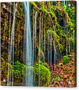 Falls And Moss Acrylic Print