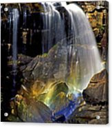 Falls And Rainbow Acrylic Print
