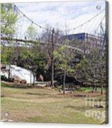Falls Park On The Reedy Greenville Acrylic Print