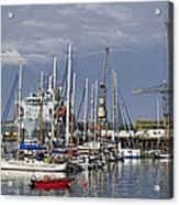 Falmouth Harbour And Docks Acrylic Print