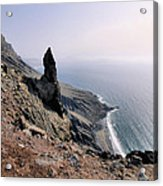 Famara Cliffs On Lanzarote Acrylic Print