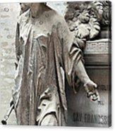 Famiglia Cavaliere Del Francesco Canti Memorial Marker Detail I  Acrylic Print