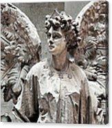 Famiglia Cavaliere Del Francesco Canti Memorial Marker Detail IIi Monumental Cemetery Acrylic Print