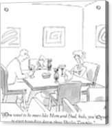 Family Around Table Acrylic Print
