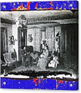 Family At Home Interior Collage Tucson Arizona Circa 1883-2012 Acrylic Print