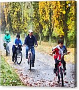 Family Bike Ride Acrylic Print