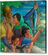 Family Bonding In Bicol Acrylic Print