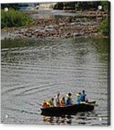 Family Canoeing At Lower Tahquamenon Falls Acrylic Print