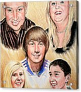 Family Collage Commissions Acrylic Print