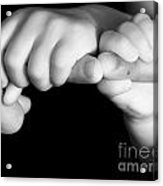 Family Hands  Acrylic Print by Ofer Zilberstein