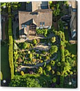 Family Homes And Green Summer Gardens Acrylic Print