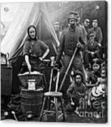 Family Housing For 31st Penn Infantry Fort Slocum Washington Dc 1861 Acrylic Print