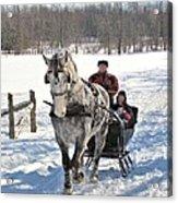 Family Sleigh Ride Acrylic Print