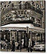 Famous Cafe De Flore - Paris Acrylic Print by Carlos Alkmin