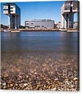 Famous Crane Houses Kranhaeuser In Cologne Acrylic Print