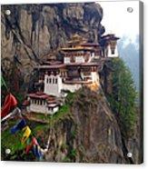 Famous Tigers Nest Monastery Of Bhutan 10 Acrylic Print